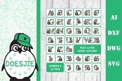 Gnome letters 3D multi layer mandala layered alphabet bundle Product Image 2