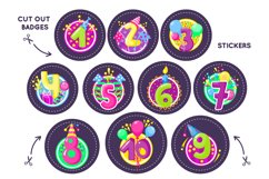 Happy birthday badges, stickers Product Image 2