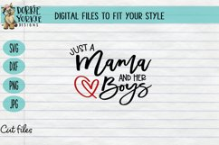 Just a Mama and her Boys - Mom boy, heart, mom, SVG cut file Product Image 1