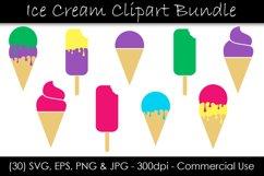 Ice Cream SVG Bundle - Ice Cream Cone & Popsicle Clipart Product Image 1