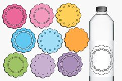 Scallop pastel tags illustrations Product Image 1