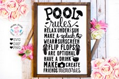 Home and Summer Rules Cut Files and Sublimation Bundle Product Image 8