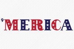 Merica SVG, Cut File, Patriotic Shirt Design Product Image 2