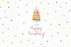 Happy Birthday hand painted watercolor collection Product Image 6