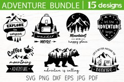 Adventure svg bundle, adventure quotes, mountain camping svg Product Image 1