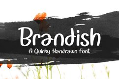 Brandish - Quirky Handrawn Font Product Image 1