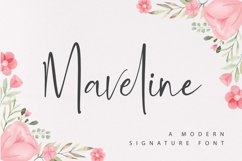 Maveline - A Modern Signature Font Product Image 1