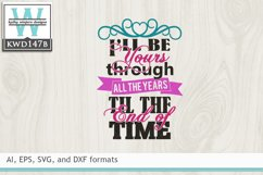 Wedding SVG - I'll Be Yours Product Image 2