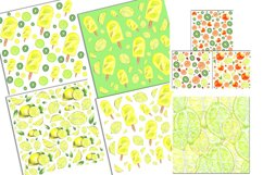Citrus Digital Paper, papers 16 summer seamless patter Product Image 6