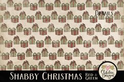 Christmas Scrapbook Papers - Shabby Christmas Backgrounds Product Image 4