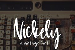 Nickely - A Textured Script Product Image 1