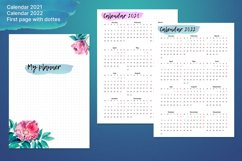Undated printable planner sheets with watercolor flower A5 Product Image 6