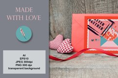 Postage stamps romantic for Valentine's Day Product Image 3