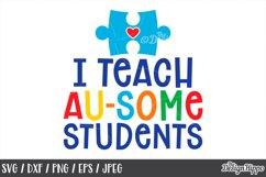 Autism Teacher, SVG Bundle of 10 Designs, DXF PNG Cut Files Product Image 5