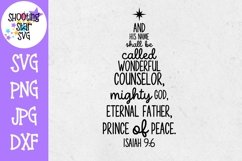 Isaiah 9-6 SVG - Subway Art - Christmas SVG - Religious SVG Product Image 1