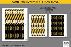 Construction party decorations, kids party straw flags Product Image 2