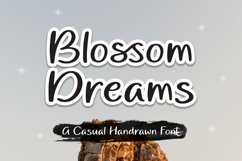 Web Font Blossom Dreams - Casual Handrawn Font Product Image 2