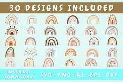 Hand Drawn Boho Rainbow Svg Bundle - 30 Designs, Rainbow Png Product Image 1