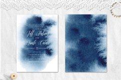 Indigo Watercolor Wedding Invitation suite Product Image 4