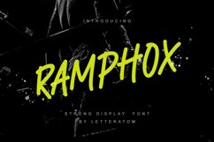 RAMPHOX | Strong Display Font Product Image 1