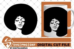 7x Black Woman Bundle SVG, afro lady svg, Africa, Queen svg Product Image 2