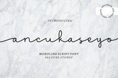 Ancukaseyo - Monoline Script Font Product Image 1