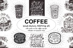 Set of Banners with coffee quotes. Product Image 1