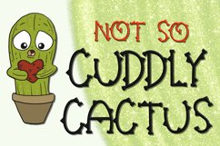 Not So Cuddly Cactus Font Product Image 1