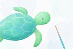 Under the Sea Watercolor Clipart Illustrations Product Image 3