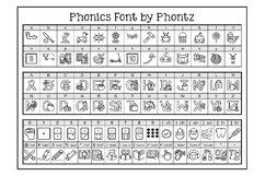Phonics Fonts Bundle - 8 Clip Art Fonts Product Image 3