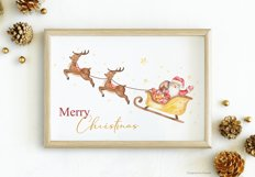 Merry Christmas watercolor collection Product Image 6