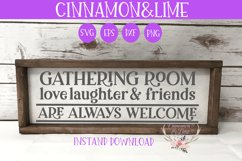 Gathering Room Fall Wood Sign SVG Product Image 1