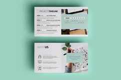 PPT Template | Project Proposal - Green and Marble Product Image 8