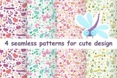 Floral animal cute seamless patterns for baby Product Image 1
