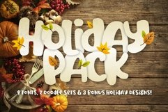 Holiday Font Pack Product Image 1