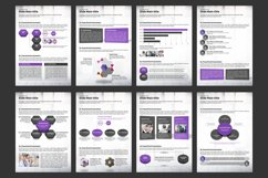 Violet Cube PPT Template Vertical Product Image 3