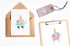 Unicorn faces graphics and illustrations Product Image 3