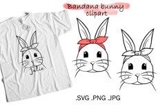 Bunny SVG bandana - Easter Bunny Clipart Product Image 1