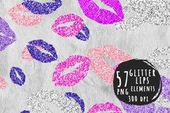Pink lip print elements Product Image 1