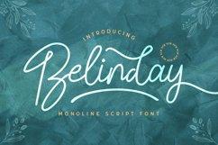 Belinday - Monoline Script Font Product Image 1