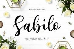 Web Font Sabilo Script Font Product Image 1