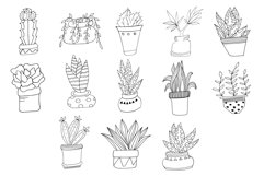 Hand Drawn Doodle Potted Plants Cliparts Product Image 5