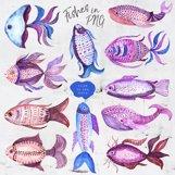 Tribal Fish - watercolor set Product Image 4
