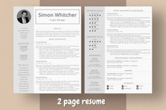 Project Manager Resume Template With Photo Product Image 3