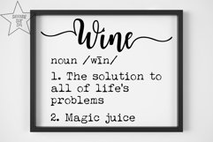 Wine Definition SVG - Funny Wine Definition - Wine Lover SVG Product Image 2