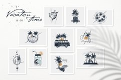 50 Logos & Badges. Vacation Time Product Image 4