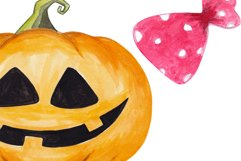 Happy halloween clipart Pumpkin Ghost Trick or treat decor Product Image 4