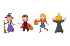 Set of twelve Cartoon Halloween Kids Character Product Image 3