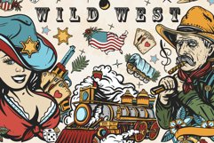 Wild West old school tattoo Product Image 1