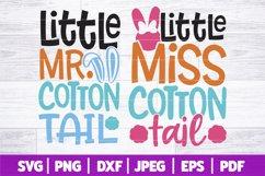 Little Mr Miss Cotton Tail SVG   Kids Easter SVG Product Image 1